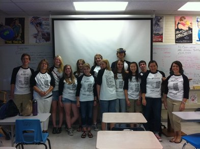 Ap Block T Shirts W/ Teachers! T-Shirt Photo