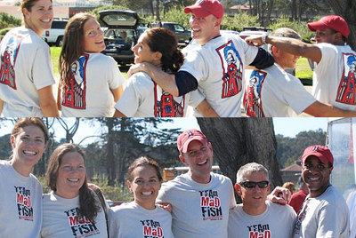 Team Mad Fish Kicks Cancers A&$! T-Shirt Photo
