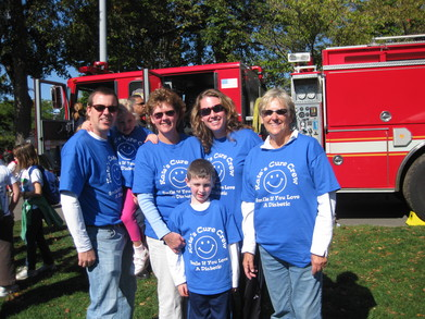Jdrf Boston 2010   Kate's Cure Crew  T-Shirt Photo