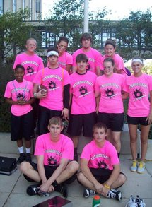 Co Ed Flag Football Team   Victorious Secret T-Shirt Photo