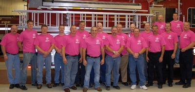Norwich Firefighters Wear Pink To Raise Awareness T-Shirt Photo
