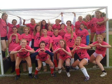 Field Hockey Vs. Breast Cancer T-Shirt Photo