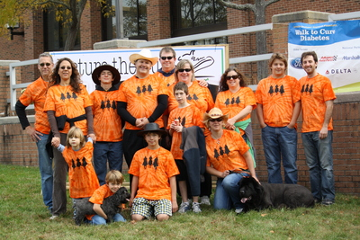 Walk To Cure Diabetes T-Shirt Photo