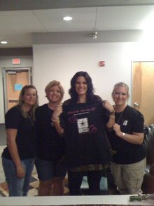 Lisa Prat, Winner Of 2009 Operation Rising Star Is Proud! T-Shirt Photo