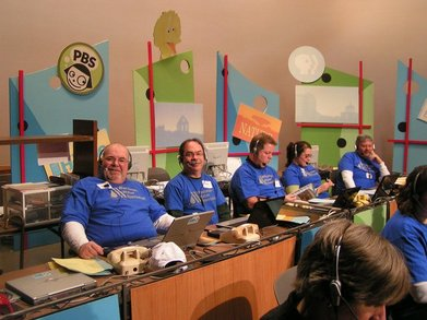 Public Television Pledge Drive Team T-Shirt Photo