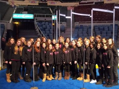 The Bonnettes On The Ice At Nassau Coliseum! T-Shirt Photo