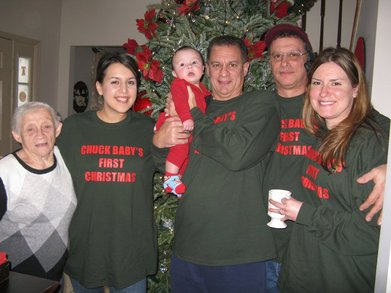 Chuck Baby's First Christmas T-Shirt Photo