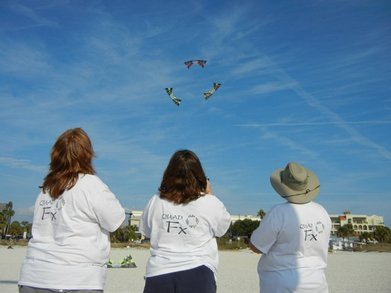 Quad Fx   Kite Team On Treasure Island Beach T-Shirt Photo