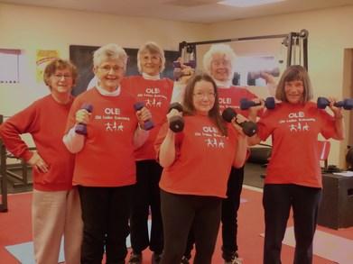Old Ladies Exercising T-Shirt Photo