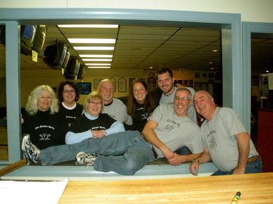 The Gutter Girls And The Pinheads Bowling Teams! T-Shirt Photo