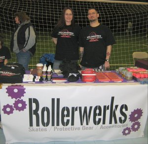 Rollerwerks Vends @ Ct Rollergirls 1st Bout  T-Shirt Photo