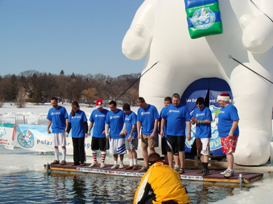 Polar Bear Plunge For Special Olympics T-Shirt Photo