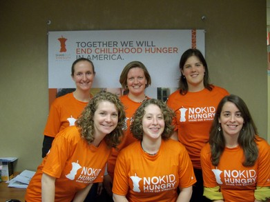 Running To End Childhood Hunger! T-Shirt Photo