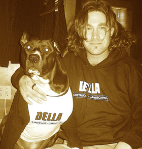 "Della Construction Owner & Mascot ""Baby"" T-Shirt Photo"