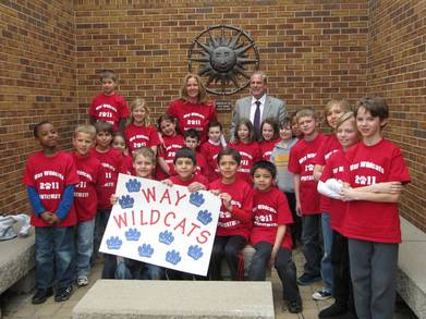 "Way Elementary ""Wildcats"" Math Pentathlon Team T-Shirt Photo"