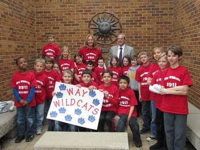 "Way Elementary ""Wildcats"" Math Pentathlon Team T-Shirt Photo"