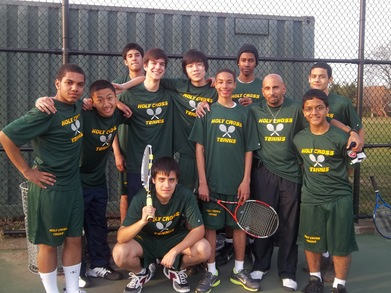 Holy Cross Knights Tennis Team 2011 T-Shirt Photo