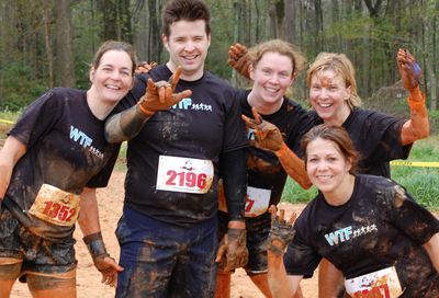 Wtf Runners @ Rugged Maniac Mud Run T-Shirt Photo