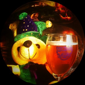 Mardi Gras Bear Loves The New Nola Gondola Glasses! T-Shirt Photo