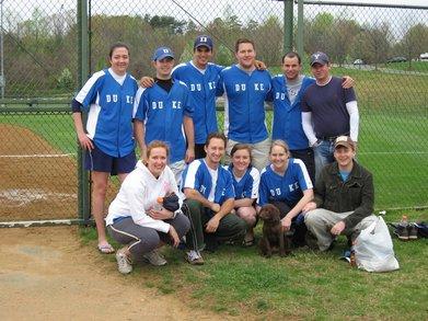 Duke Law Softball T-Shirt Photo