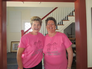Two Sisters Walking Abreast Team  T-Shirt Photo