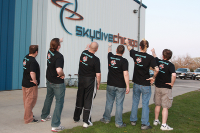 Flock University Opening At Skydive Chicago T-Shirt Photo