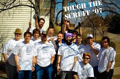 """Tough The Scruff"" To Fight Ms Participants 2007 T-Shirt Photo"