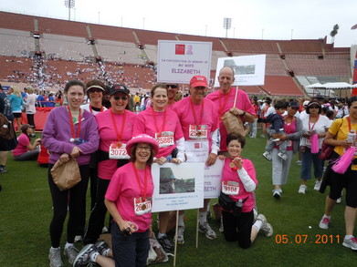Team E 2 At Revlon Run Walk T-Shirt Photo