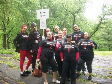 Team Cielo At Aids Walk Ny 2011 T-Shirt Photo