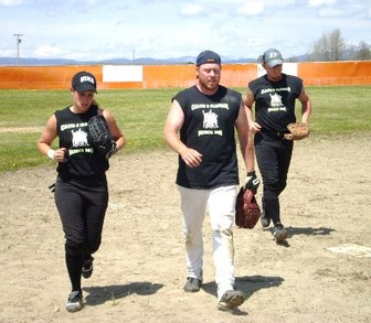 Cleats And Cleavage Suns Out Guns Out! T-Shirt Photo