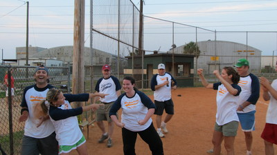 Celebrating Game Winning Hit T-Shirt Photo