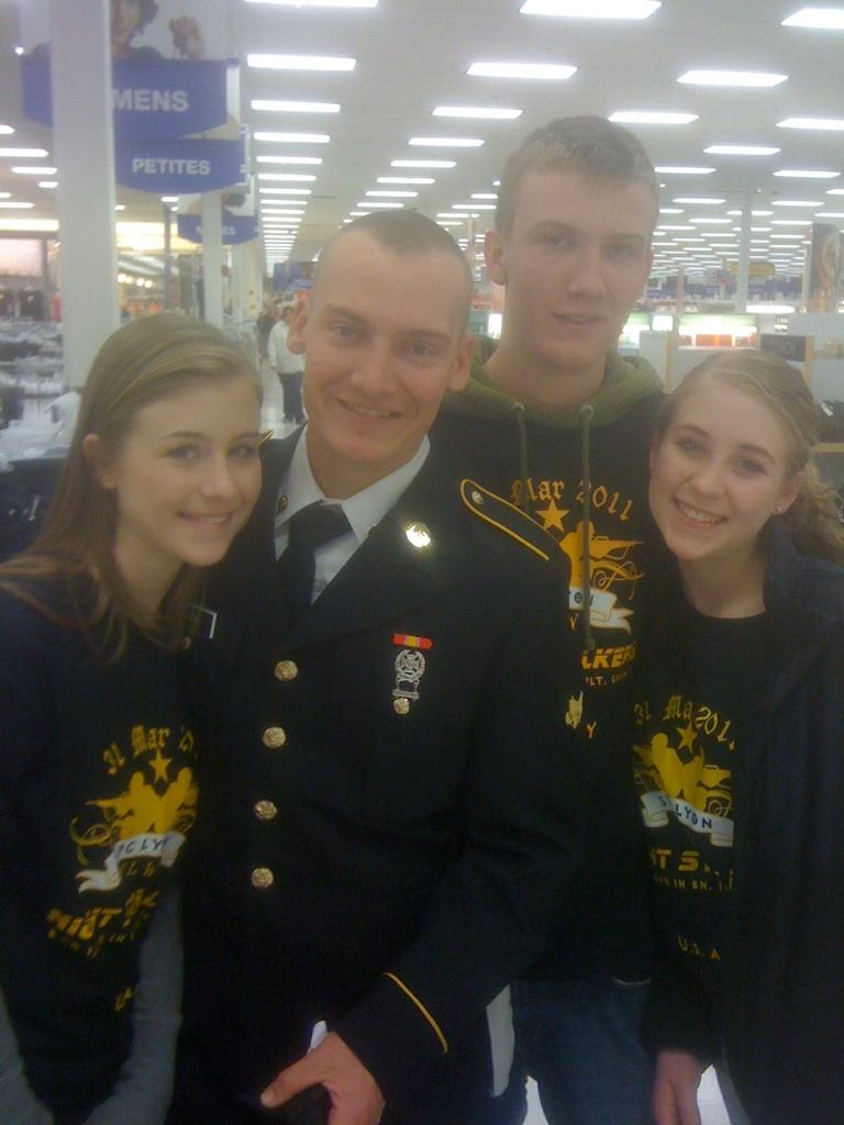 Design your own t shirt military - Spc Josh Lyon S Graduation From Army Bt 5 2011 T Shirt Photo