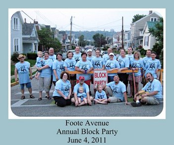 Foote Avenue Annual Block Party T-Shirt Photo