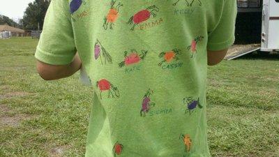 Happy 4th Of July From Irish Fox Riding (Back Of Shirts) T-Shirt Photo