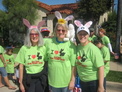 Sue, Mary And Alison Supporting Rabbit Rescue. T-Shirt Photo