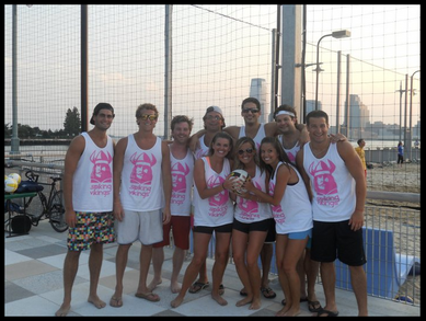 Nyc Beach Volleyball T-Shirt Photo