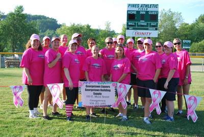 Crush Breast Cancer Home Run Derby T-Shirt Photo