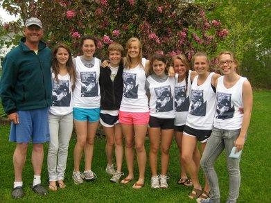 Ncaa Champions And Their Retiring Head Coach T-Shirt Photo