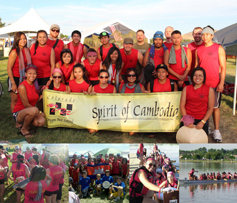Spirit Of Cambodia Dragon Boat Team T-Shirt Photo