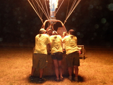 Hot Air Balloon Glow Crew T-Shirt Photo