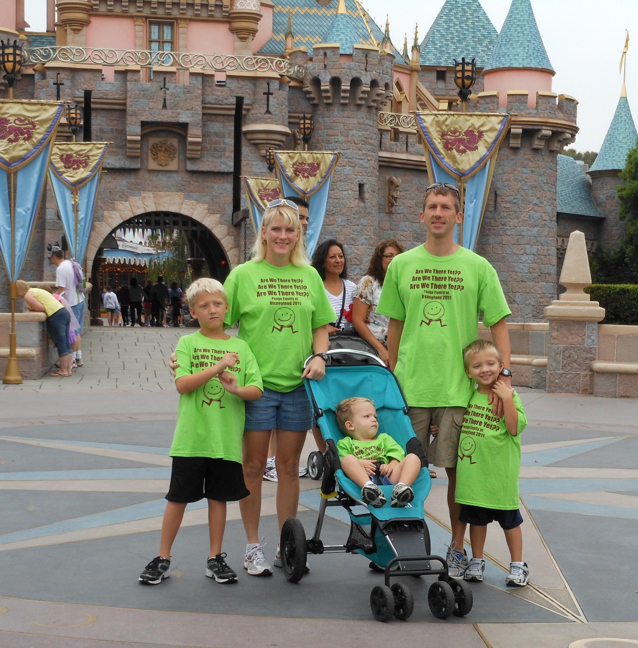 Custom T Shirts For Poage Family Goes Disney Shirt