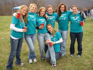 The Ladies At Pig Roast T-Shirt Photo