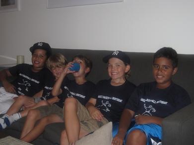 Post Ballgame Slumber Party For Jake's 9th Birthday! T-Shirt Photo