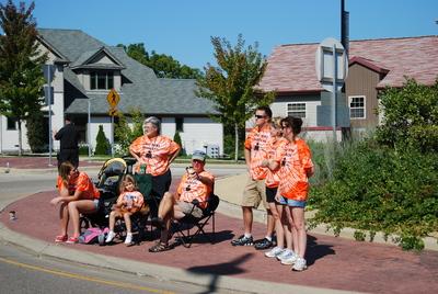 Swat Team Spectators At Ironman Wisconsin T-Shirt Photo