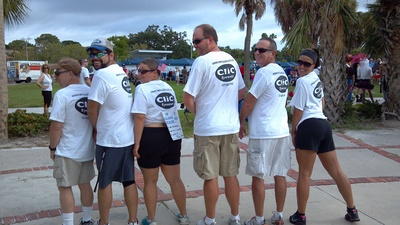 Team Impulseclics.Com At Aids Walk St Petersburg, Fl T-Shirt Photo