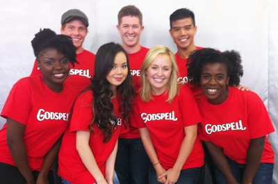 Godspell Broadway Cast T-Shirt Photo