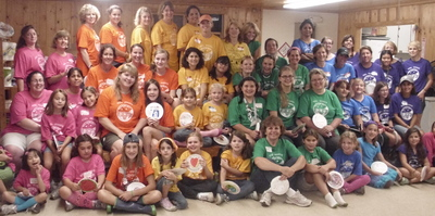 A Rainbow Of Ct Girl Scout Leaders And Daughters! T-Shirt Photo