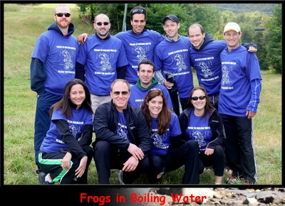 Frogs In Boiling Water Reach The Beach Relay T-Shirt Photo
