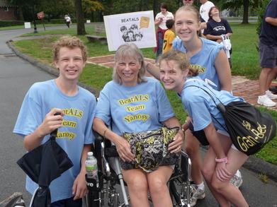Als Walk 2011  Grandma With Grandkids T-Shirt Photo