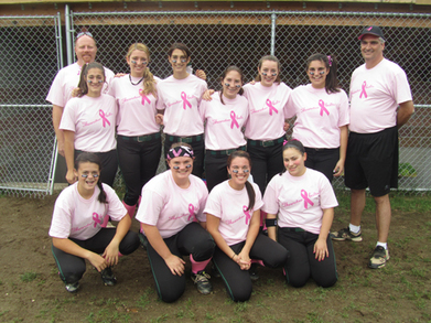 Thunderbolts Go Pink For Breast Cancer T-Shirt Photo